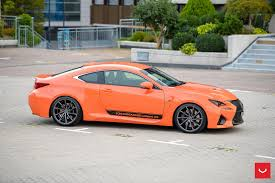 lexus rcf coupe orange vossen wheels lexus rcf vossen cvt