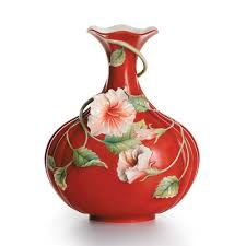 Franz Butterfly Vase Franz Collection Hibiscus