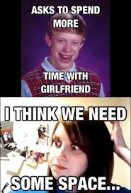 Bad Luck Meme - bad luck brian dates overly attached girlfriend