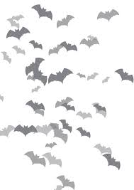 black and white halloween background bats