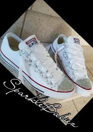 Wedding Shoes Converse Bling U0026 Pearl Chuck Taylor All Star Converse Wedding Bridal Shoes