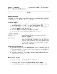 Sample Biotech Resume by Biotech Resume Example