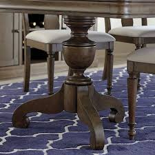 french rustic double pedestal dining table