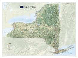 Alfred New York Map by New York State Wall Map Usa And Us States Wall Maps