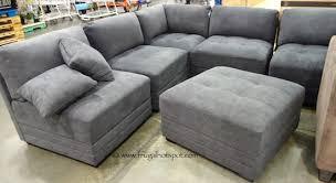 costco sleeper sofa 6 piece modular fabric sectional costco frugalhotspot