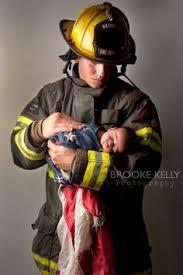firefighter newborn photo newborn photography