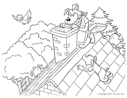 big bad wolf coloring page wallpaper download cucumberpress com