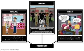 the story of ruby bridges vocabulary storyboard