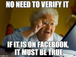 Everything On The Internet Is True Meme - old lady at computer finds the internet imgflip