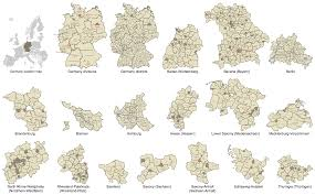 Essen Germany Map by Map Of Germany U2014 North Rhine Westphalia State
