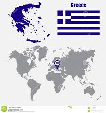 Greece On A Map by Map Flag Greece Vector Stock Image Image 4719821