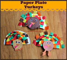 these paper plate turkeys are a thanksgiving craft that