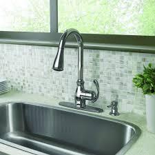 shop moen delaney with motionsense moen arbor single handle pull sprayer touchless kitchen
