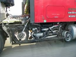 Tire Rack Motorcycle Is There Any Way To Strap A Motorcycle Between A Tractor Trailer