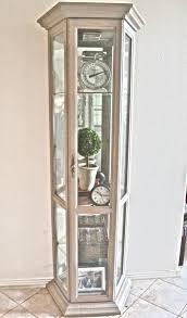 Home Design Concept Lyon Curio Cabinet Distressed Wood Curio Cabinets Cabinet Lyon In