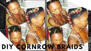 how to braid extensions into your own hair how to cornrow braid your own hair with extensions no salon diy