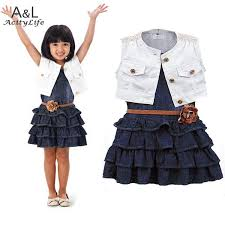 2016 baby dress kids casual dress clothes cotton