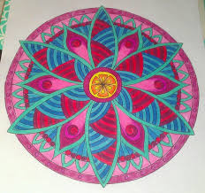 flower mandalas finished coloring pages zenspirations