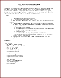Example Of Reference In Resume by 16 References On Resume Sendletters Info