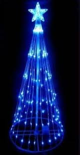 northlight 6 ft multi color led light show cone tree