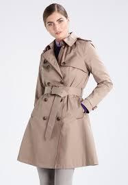 lauren ralph rain trech trenchcoat sand women clothing coats