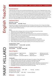 Teachers Resume Example by Cv Template Examples Writing A Cv Curriculum Vitae Templates