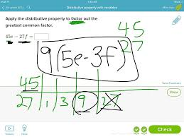 showme distributive property with variables
