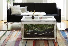 complete living room decor furniture unique terrarium coffee table design ideas brown
