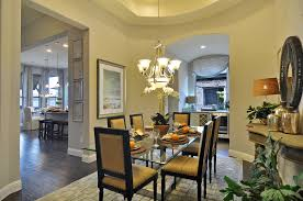 a formal dining rooms steps away from the kitchen and living area