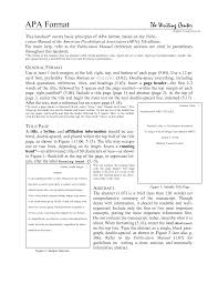 essay format apa an essay in apa format apa style format rules