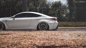 bagged lexus rc lexus rc f brixton forged wheels