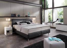 Schlafzimmer In Anthrazit Ruf Amado Boxspringbett In Anthrazit Mit Chromfarbigen Füßen