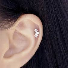 cartilage earrings cz crown cartilage earring serendipity in seoul