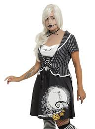 the nightmare before skellington moon dress plus