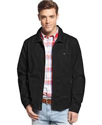 tommy hilfiger perry jacket in black for men lyst