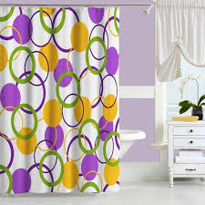 Shower Curtains Unique Abstract Shower Curtain In Brown Purple And Yellow