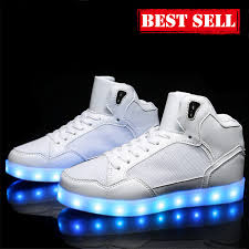 light up shoes for sale adults flashing light up shoes high tops lifestyle all white sale