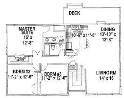 Split Level Homes Plans Split Level House Plans Three Bedroom Split Level Hwbdo67425