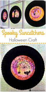 spooky halloween sun catcher kid craft