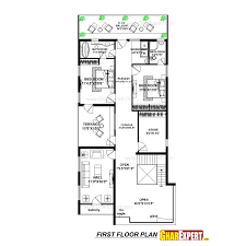 house plan for 39 feet by 90 feet plot plot size 153 square yards