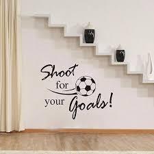 cartoon soccer ball football vinyl removable wall sticker art football soccer ball letter wall stickers art decal home room decor