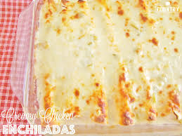 creamy chicken enchiladas with white sauce the country cook