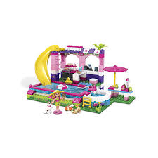 mega bloks table toys r us mega bloks barbie build n play chelsea pool party building blocks