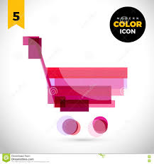 shopping trolley modern color icon for web new creative design