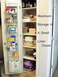 Small Linen Cabinet Bathroom Best 25 Small Closet Storage Ideas On Pinterest Organizing