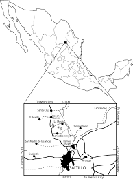 Coyoacan Mexico Map by Paleocene Decapod Crustacea From The Rancho Nuevo Formation