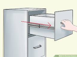 File Cabinet With Drawers by 5 Ways To Remove Drawers Wikihow