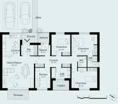 plan maison plain pied 3 chambres en l plan maison plain pied 3 chambres plan maison plain pied en l