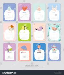 yearly planner template cute calendar template 2017 yearly planner stock vector 473529382 cute calendar template for 2017 yearly planner calendar with all months set with funny