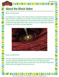 about the black holes u2013 free printable science worksheet for 5th